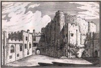 The Inner court of Berkeley Castle from the Hall