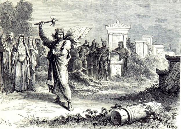 Merovingian king Clovis as founder of St. Genevieve.