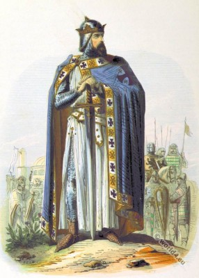 Godfrey of Bouillon. Crusader. King of Jerusalem. Medieval Frankish knight.