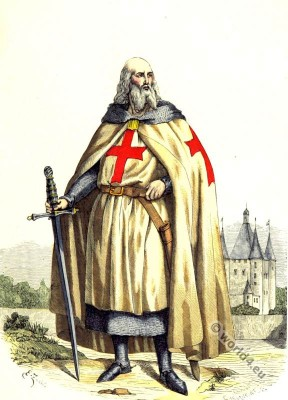 Jacques de Molay, Grand Master, Templar, 11th century, Knight, middle ages,costumes, Chivalry,