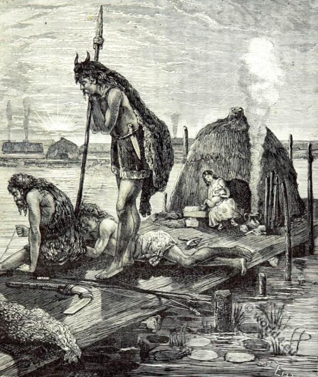 Ancient Parisians habit. Gaulish clothing.