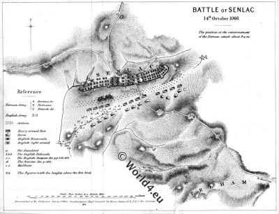 Map, Battle, Hastings,Senlac,normann,anglo-saxon,11th century, william the conqueror