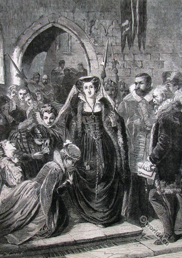 Mary Stuart, execution, England Tudor,