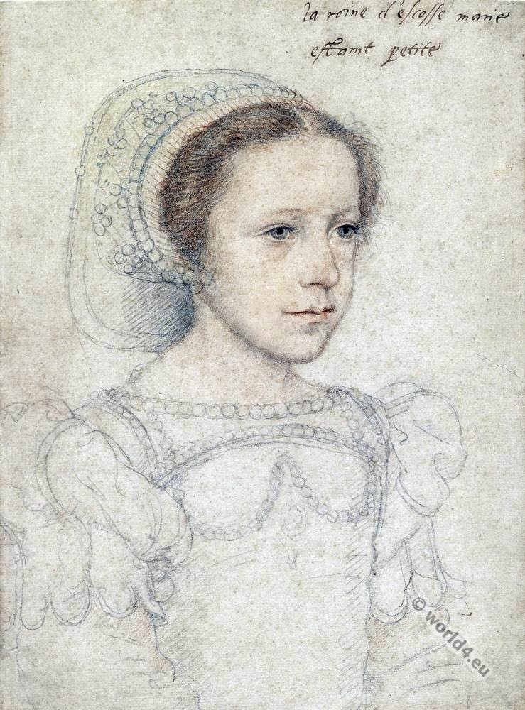 Mary Stuart, Queen of Scots as young girl.
