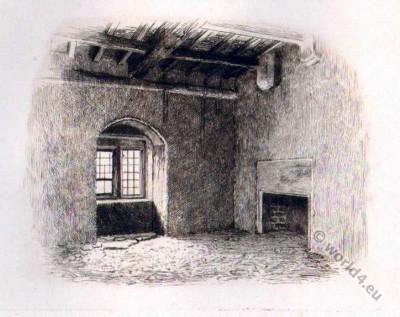 Mary Stuart. Chamber. Bolton Castle. Tudor era