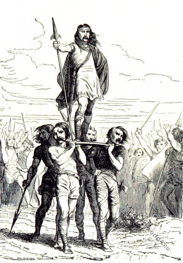 Merovingian King Clovis proclaimed as King.