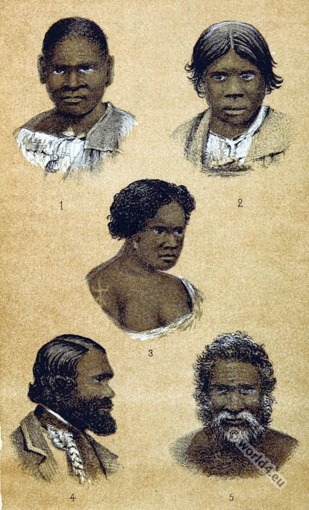 Native tribes Australia. Aboriginals Portraits,
