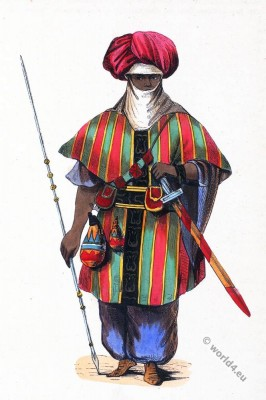 Tuareg warrior costume. Historical clothing.