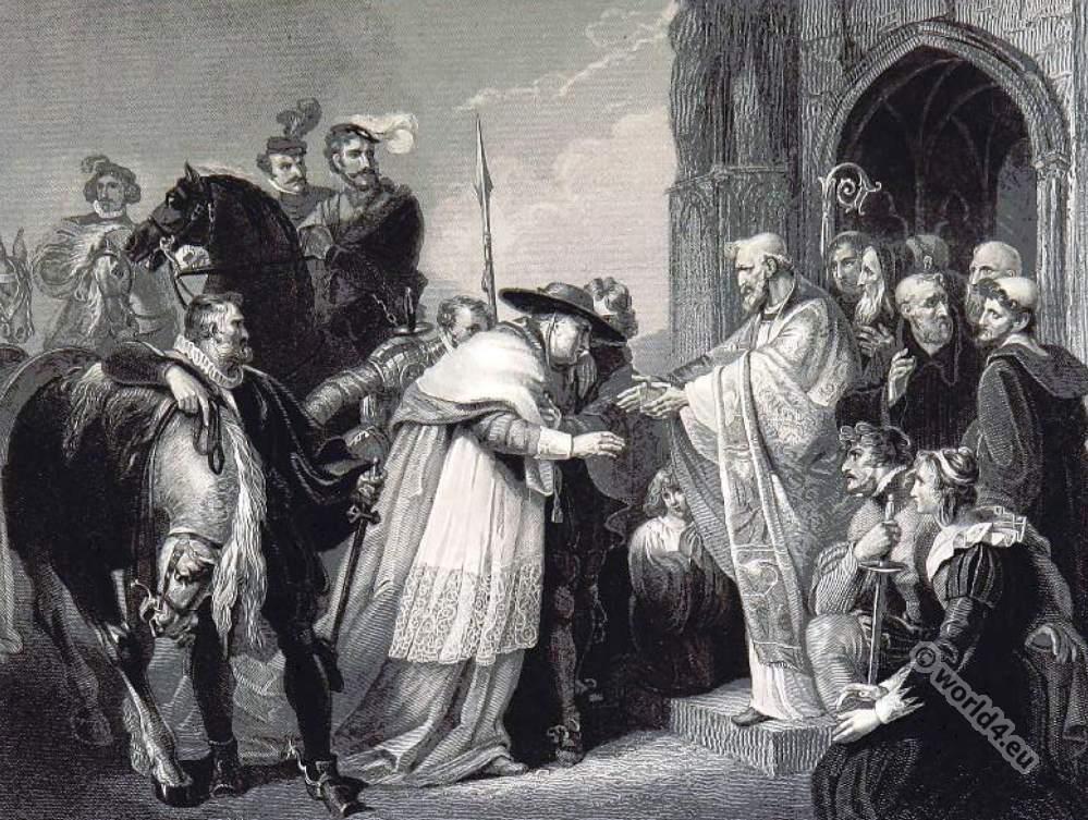 Cardinal, Wolsey, 16th century, Tudor, clothing, Leicester Abbey, British history