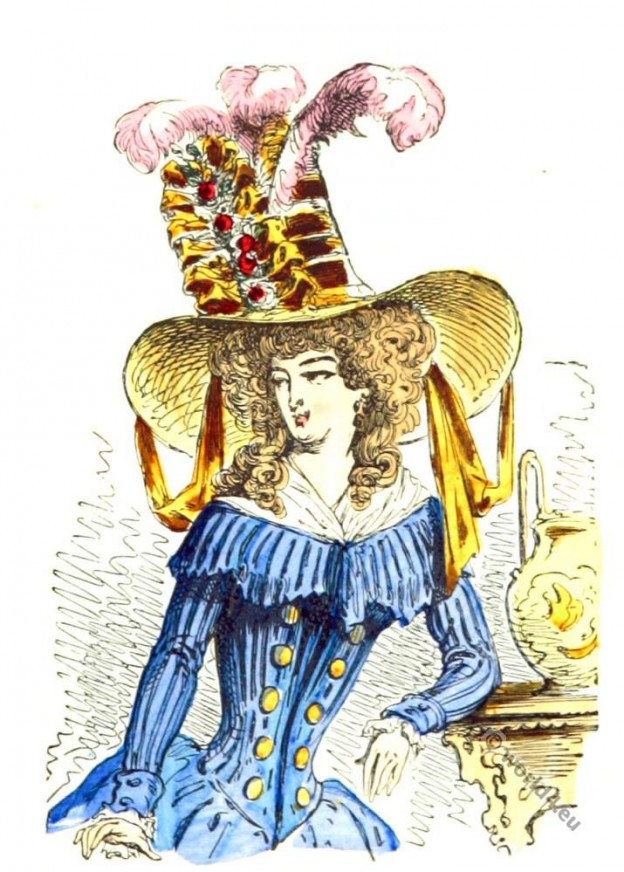 Chapeau à la tartare 1787. French Revolution fashion