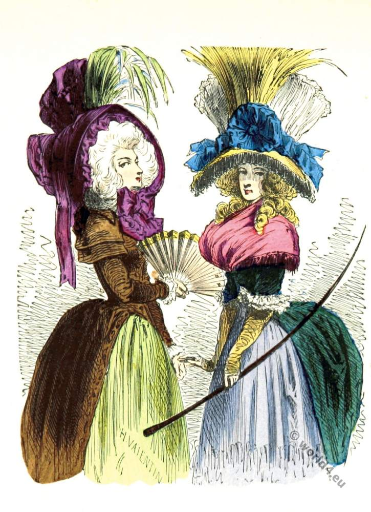 Chapeau, Bateau, Renverse, Louis XVI, Court dress, Rococo, fashion history, 18th century