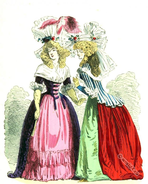 Costumes, Demi-Négligé, Louis XVI, Court dress, Rococo, fashion history, 18th century