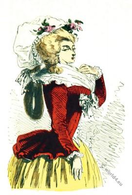 Costume, Déshabillé, appelé, pierrot, rococo, costumes