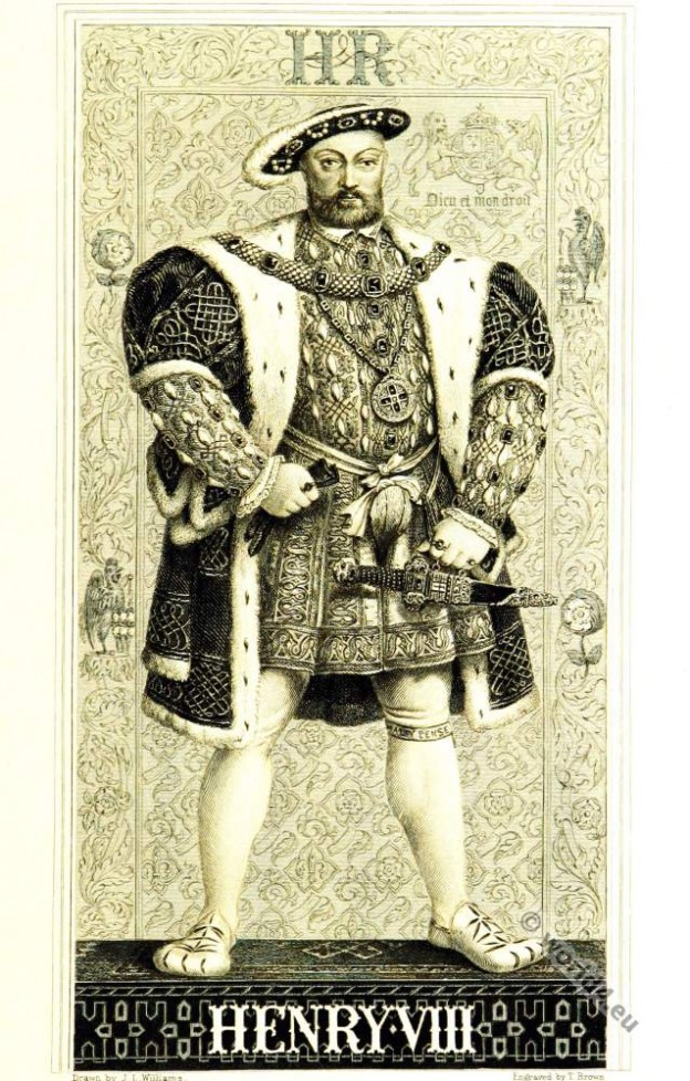 Henry VIII Tudor, English King, 16th century. Renaissance era clothing