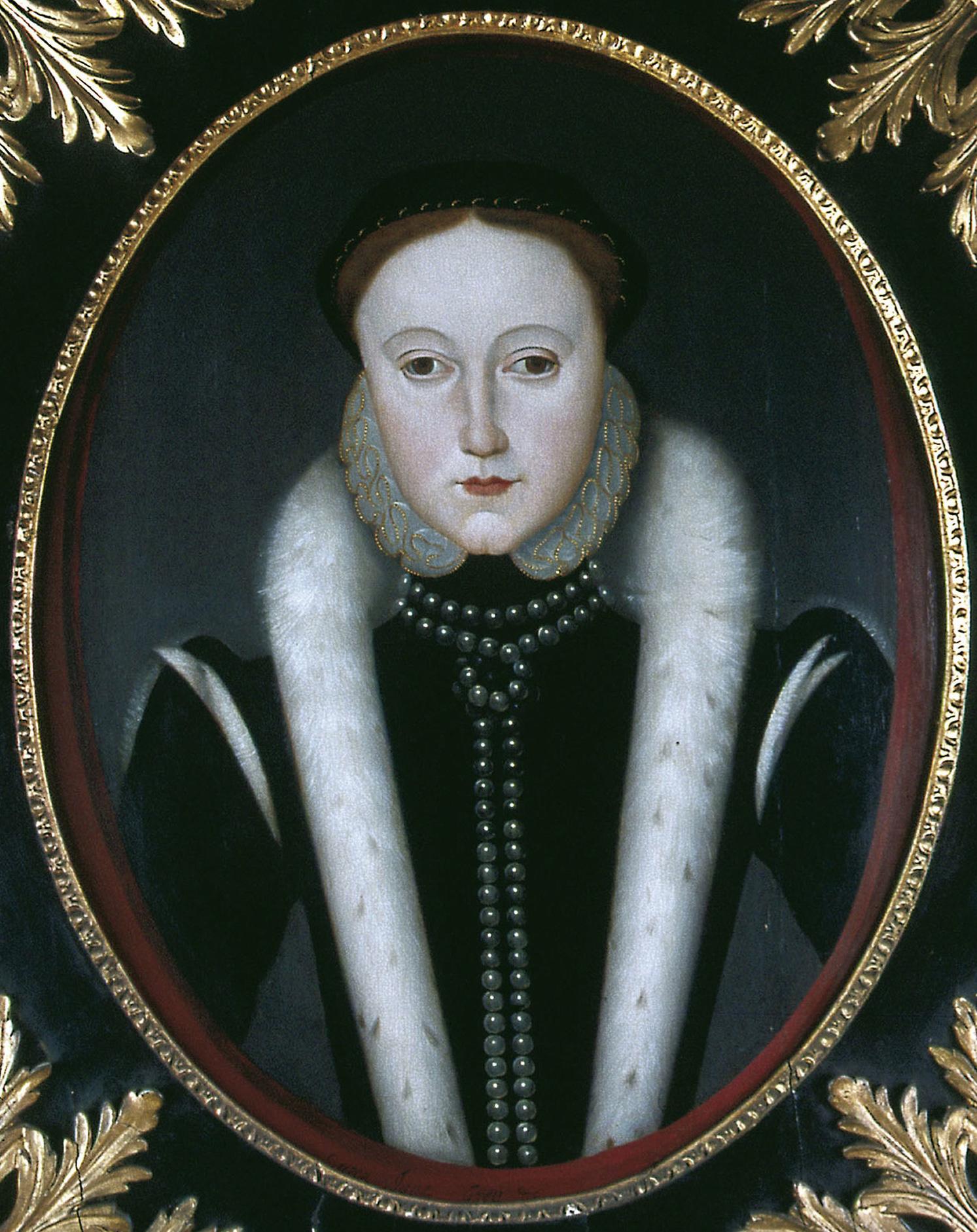 Tudor Queen Jane Grey. Renaissance costume era.