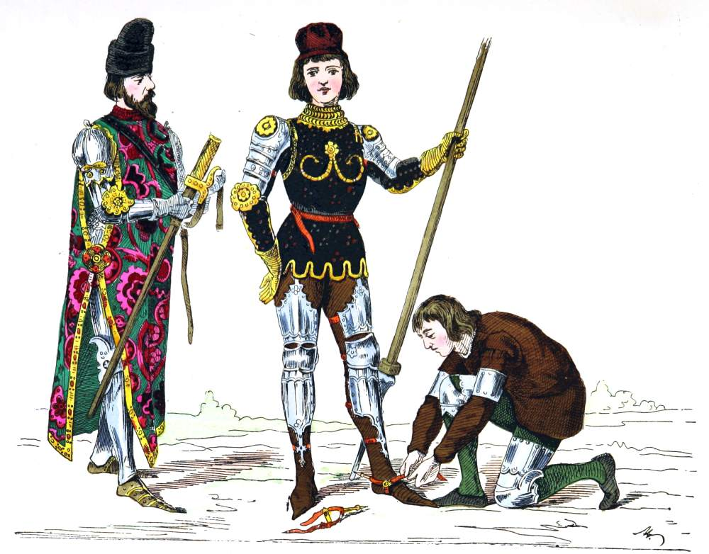 Prince, Squire, servant, Middle ages, clothing, dresses, 15th century,
