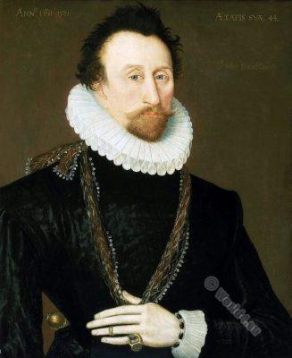 Sir John Hawkins. English naval commander. Tudor era