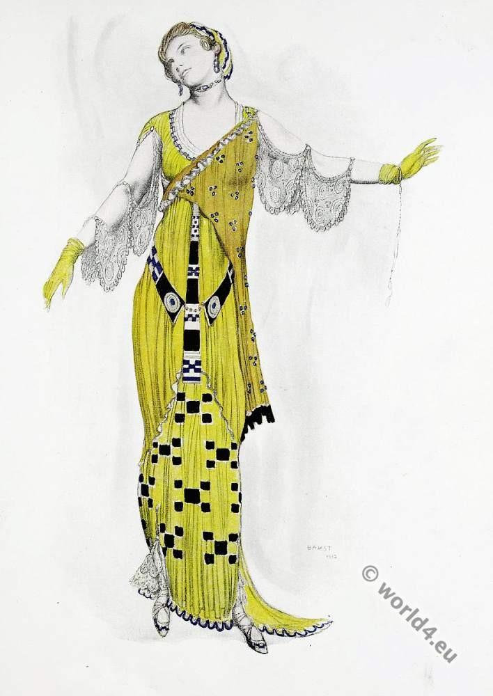 Léon Bakst, Art deco, costume, design, Dione,