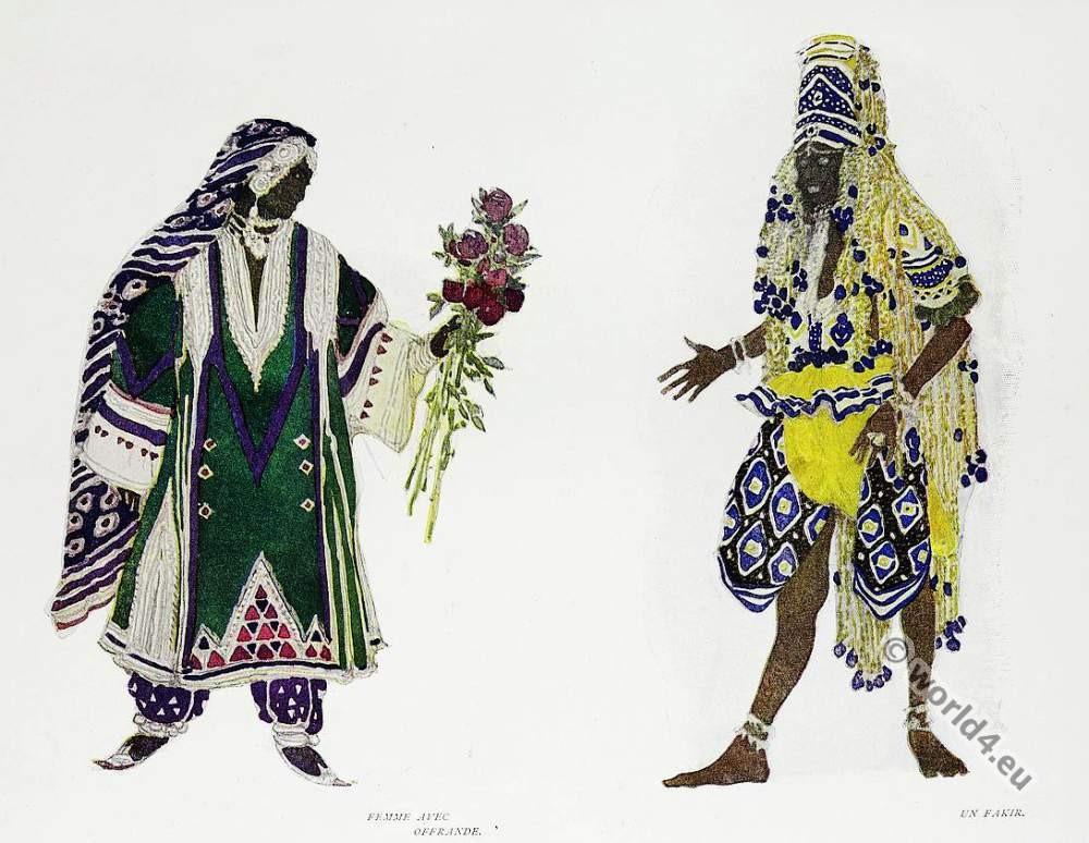 Leon Bakst, Fakir, costume, Russian, ballet,