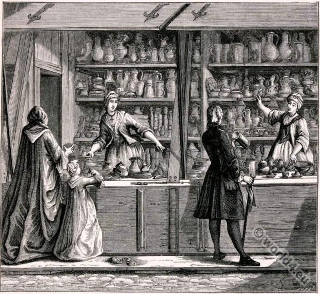 Vendor Tinware 18th Century France Costume Shop Child