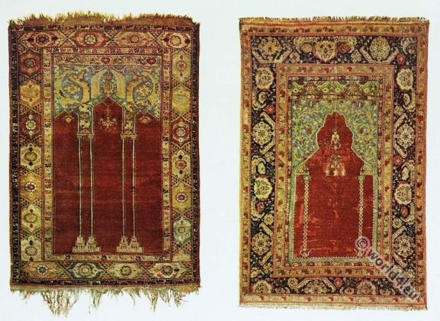 Antique Prayer rugs. Asia Minor. Transylvania