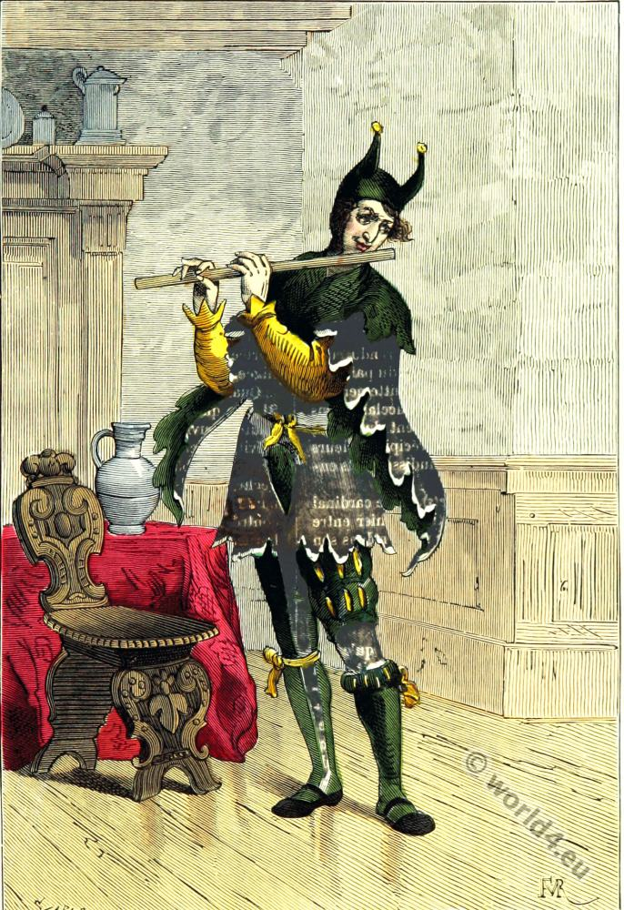What was life like for a court jester? - History Extra  Jester Middle Ages Wear