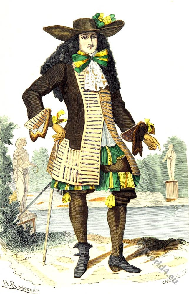 Seigneur, Baroque, Nobility, French, costume, fashion history, historical, dress, 17th century, Louis XIV
