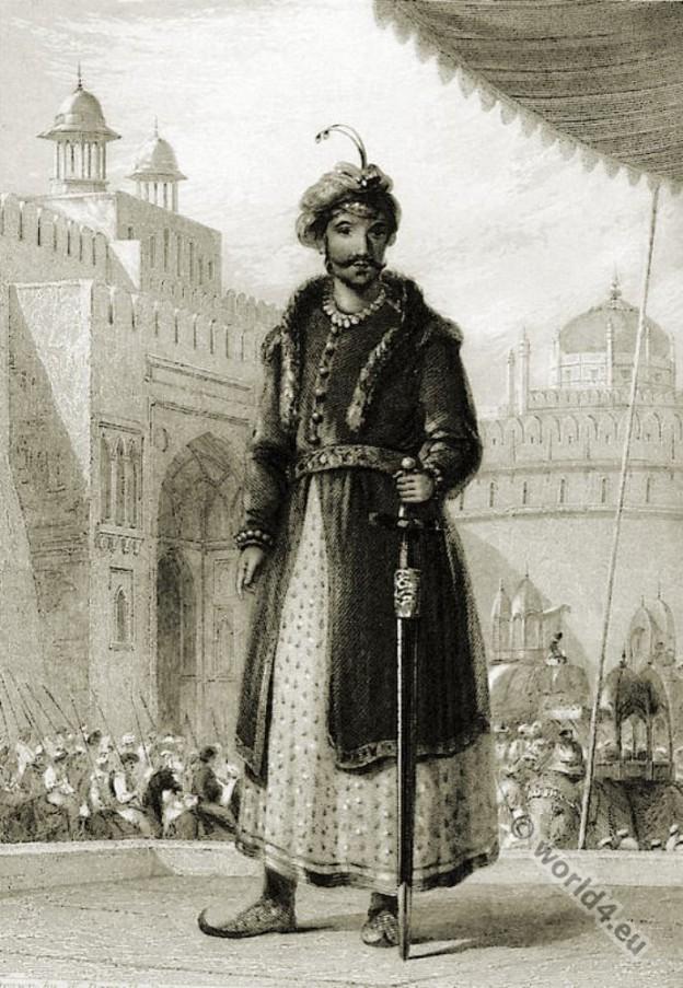India Mughal Empire. Muhammad Humayun. Mughal costumes