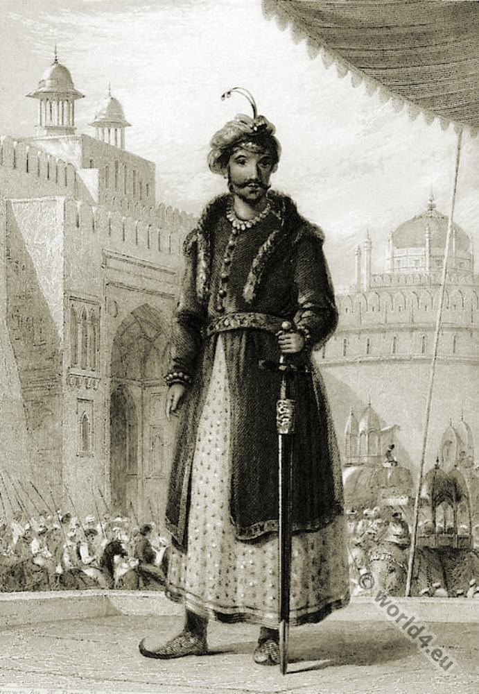 India, Mughal, Empire, Muhammad, Humayun, costumes, ruler,