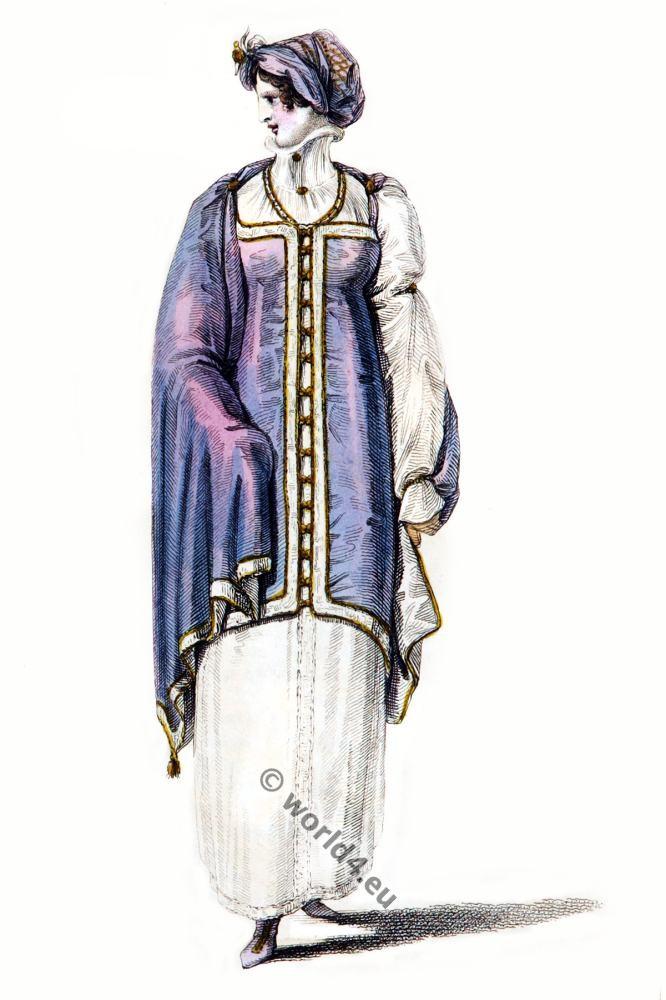 Robert Ackermann, Regency, walking dress,