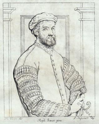 Antonio Tebaldeo. Italian poet . Renaissance costumes. 16th century fashion.