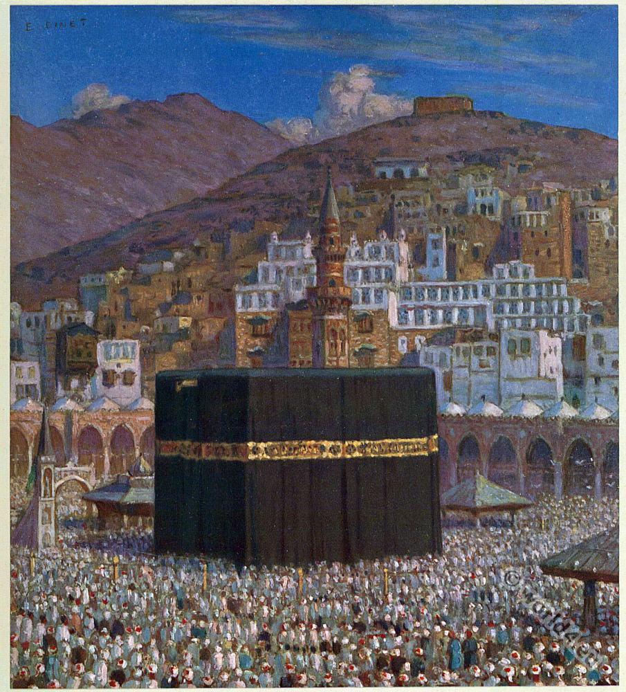 Kaaba, الكعبة. Mekka. Islam. Holy Mosque. The great pilgrimage.