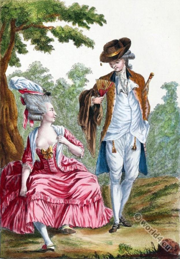 Petite robe, ouverte, décolletée, costume, Rococo, fashion,