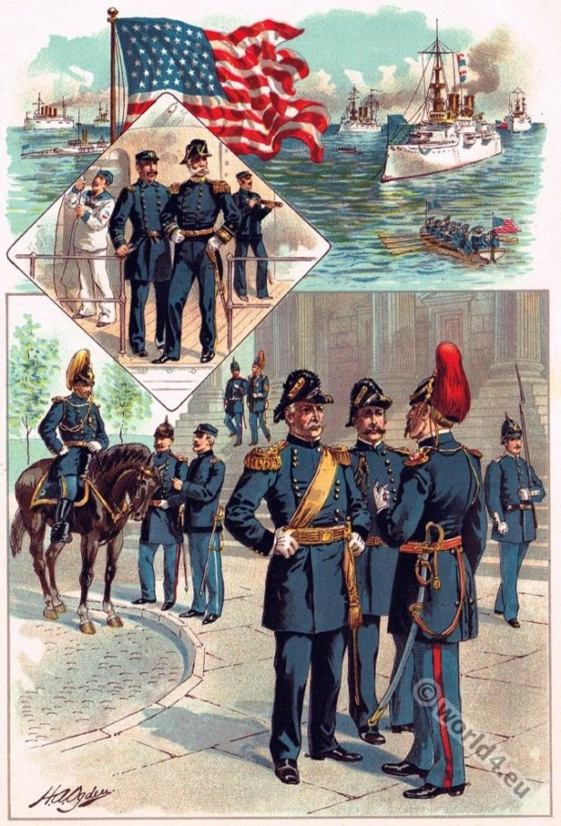 United States Army and Navy uniforms