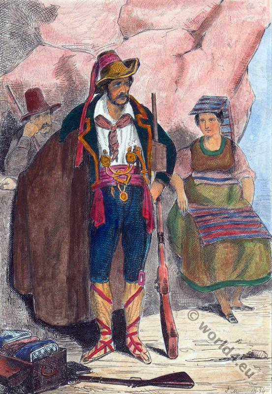 Bandits, Briganti, Abiti, popolari, italiani, costumes, dress,