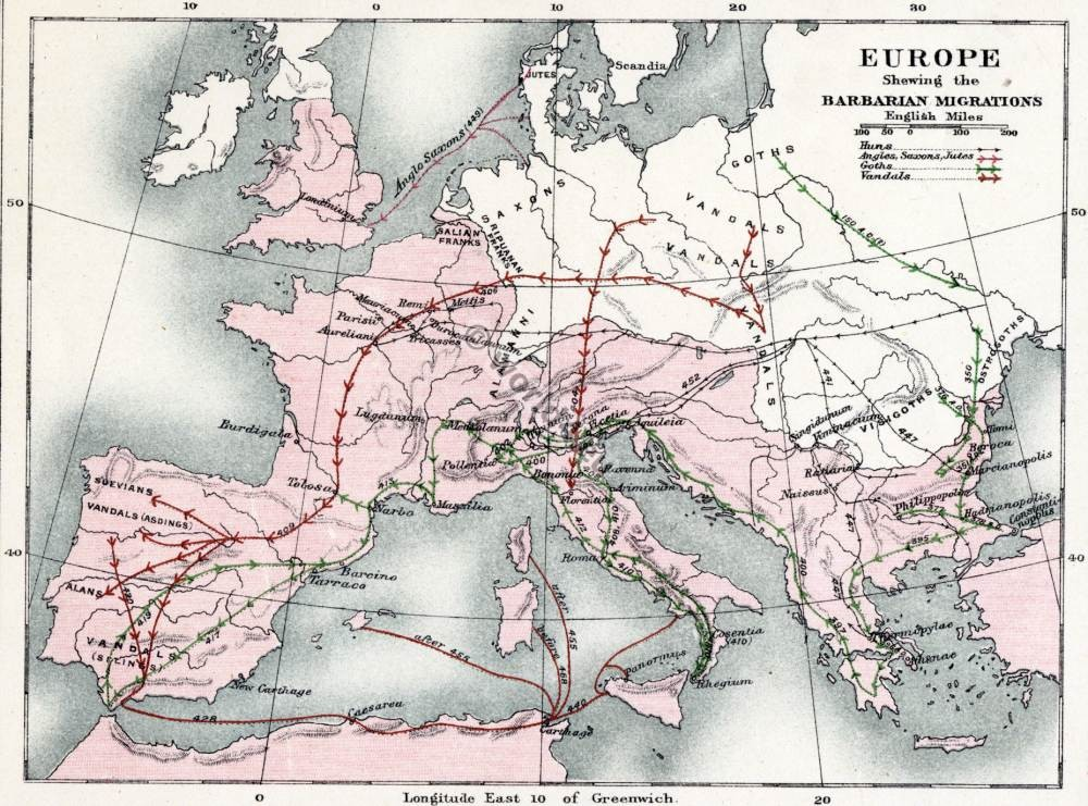 Barbarian, migration, maps,  history