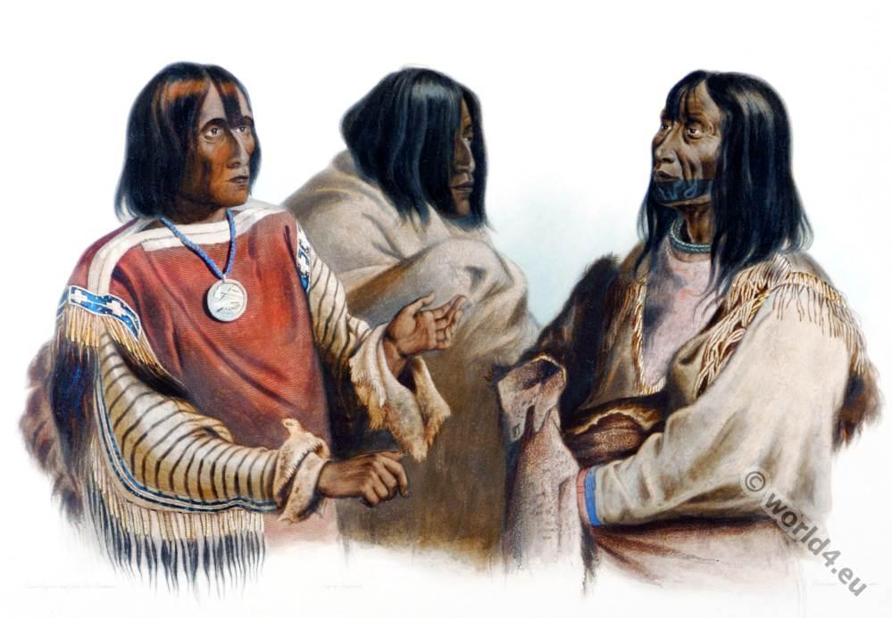 War, chief, Blackfeet, Blood, Indian, Piekann, Koutani, Karl Bodmer