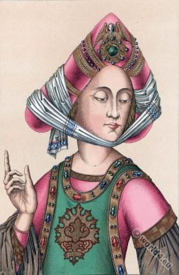 Reticulated, Headdress, Burgundian turban, headgear