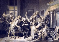 Charles I Trial. History of England. 17th century fashion.