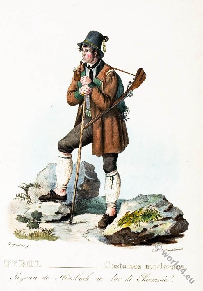 Flinsbach, Lake, Chiemsee, Peasant, costume, Germany, Tyrol