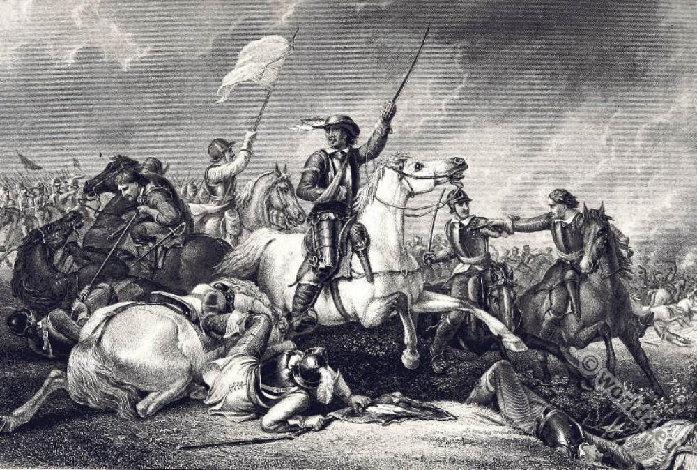 Oliver, Cromwell, Battle, Marston, Moor, 17th, century, history, England, civil war,