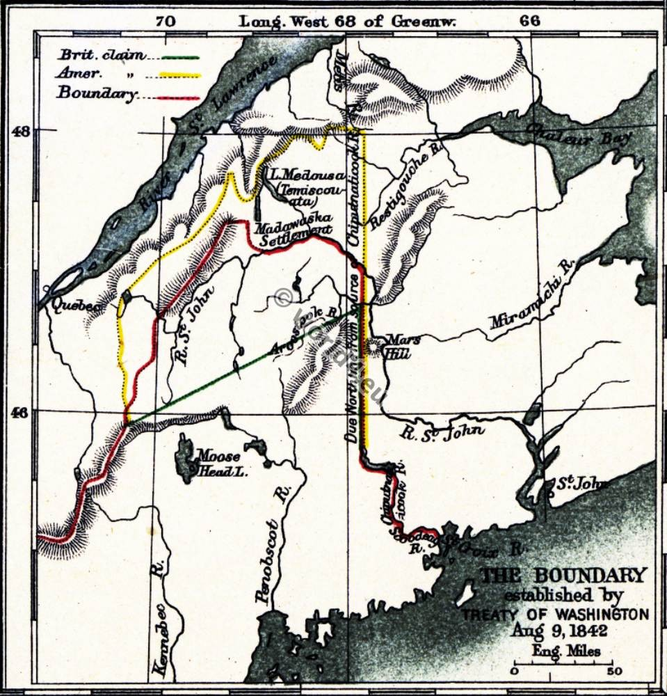 Map, Treaty, Washington, America, Revolutionary, War,
