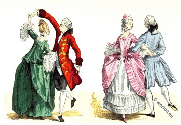 Hoop, Panniers, Justaucorps, Rococo, fashion, Ballroom, dresses,