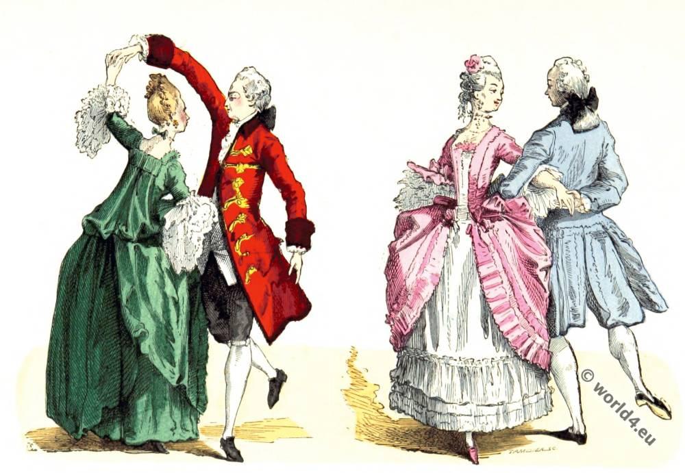 Ballroom, dresses,  Rococo, fashion, 18th century,