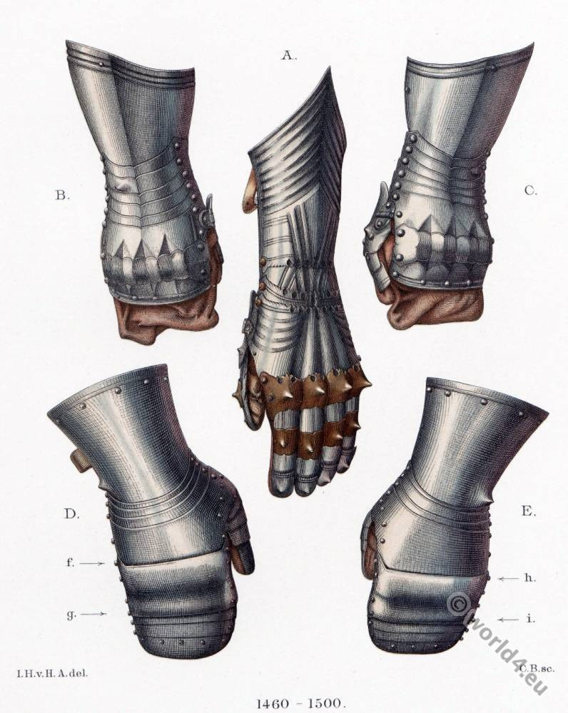 Iron Gloves, gauntlets, 15th century, Middle ages, armor