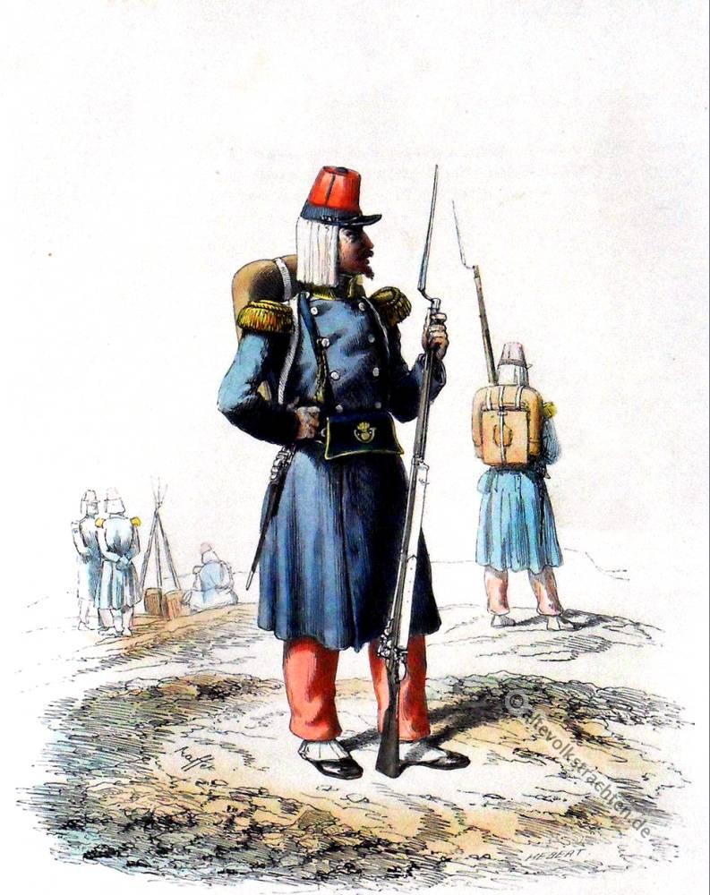 Infanterie, légère, compagnie, voltigeurs, France, Mexique