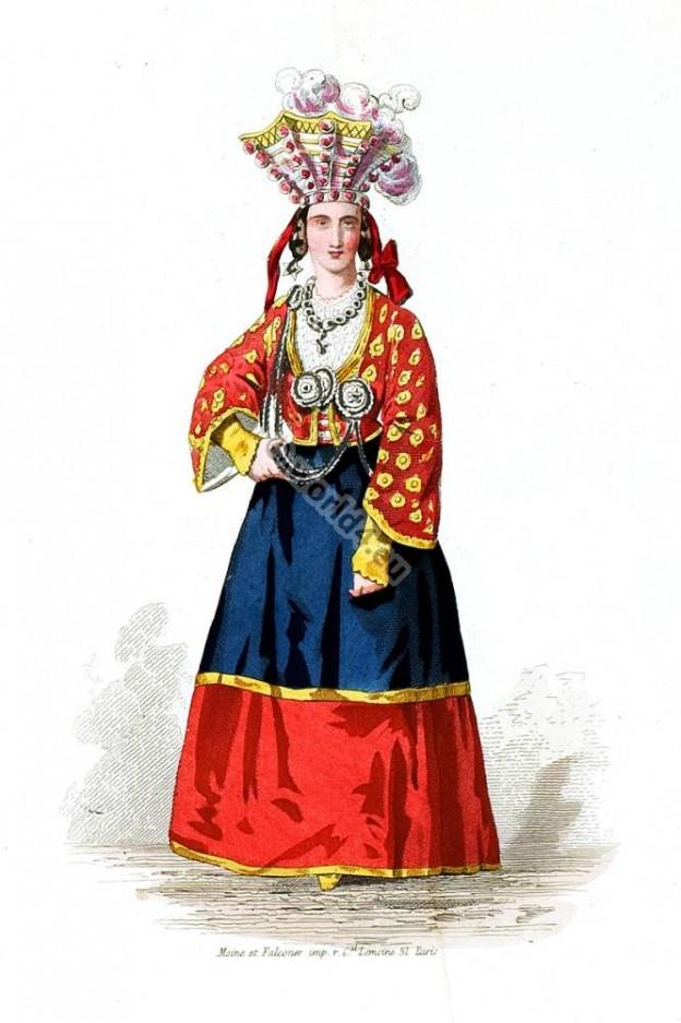 Moravia traditional folk dress