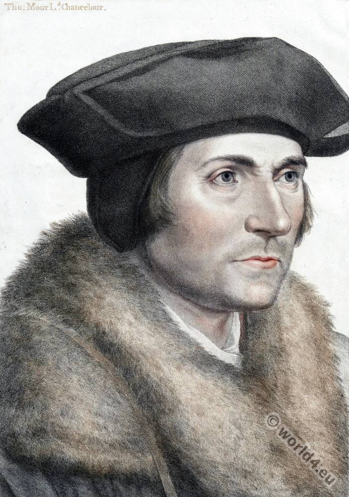 Sir, Thomas, More, Hans, Holbein, Younger, Tudor, portrait, fashion,