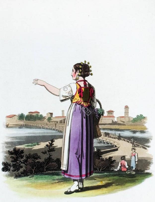 Traditional, Italy, national, costumes, Costume, tradizionale, Lodi, Italia,