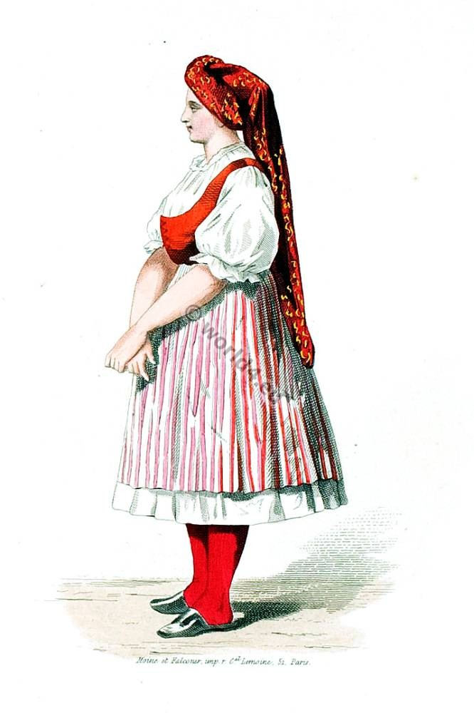 Traditional Hungarian peasant costume. Hungary National folk dress